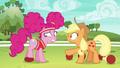 Applejack harshly coaching Pinkie Pie S6E18.png