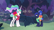 Celestia and Luna in awkward silence S9E13