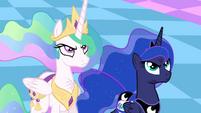 Celestia and Luna unamused S4E2