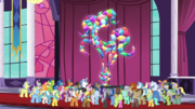 Citizens of Equestria statue fully restored S5E10