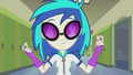 DJ Pon-3 takes out earbuds EG2.png
