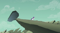 Filly Rarity walking away from the dumb rock S5E25