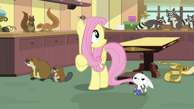 File:Fluttershy looks around at chaotic clinic S7E5.png