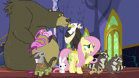 Fluttershy with her animal friends S6E21