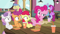 Pinkie Pie -Haven't seen you here in, like- S4E15