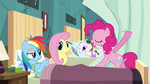 Pinkie Pie pulling the curtains S2E16
