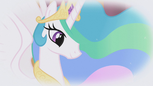 Princess Celestia in Rarity's fantasy S1E03