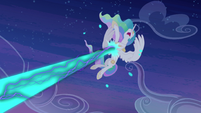 Princess Celestia is hit S4E02