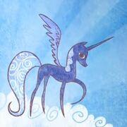 Princess Luna in the prologue S1E01