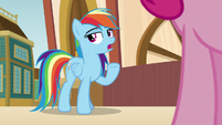 "Rainbow ""Applejack was too busy to come"" S9E6"