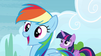 Rainbow Dash gasping excitedly S4E10