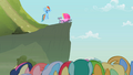 Rainbow Dash waving to the crowd S2E08.png