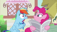 Rainbow Dash yelping with shock S7E18