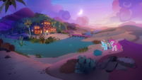 Rainbow and Pinkie reach the Get On Inn S7E18