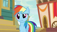 Rainbow skeptical of Quibble's claim S9E6