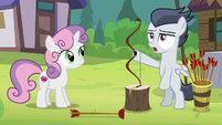 Rumble pretending to fail at archery S7E21