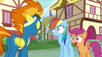 Spitfire nodding to Rainbow Dash S6E7