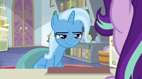 Trixie looks coyly at Starlight Glimmer S9E20