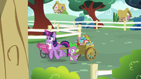Twilight and Spike enter Ponyville Schoolhouse S7E3