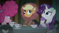 Applejack and Rarity hear Fluttershy S5E21