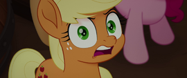 Applejack shocked at the thought of being tied up MLPTM