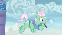 Cloud casing slips out of Mr. Shy's hooves S6E11