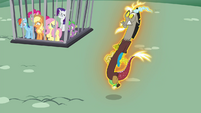 Discord being levitated S4E26
