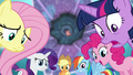 Mane Six in awe of Flurry Heart's power S6E1.png
