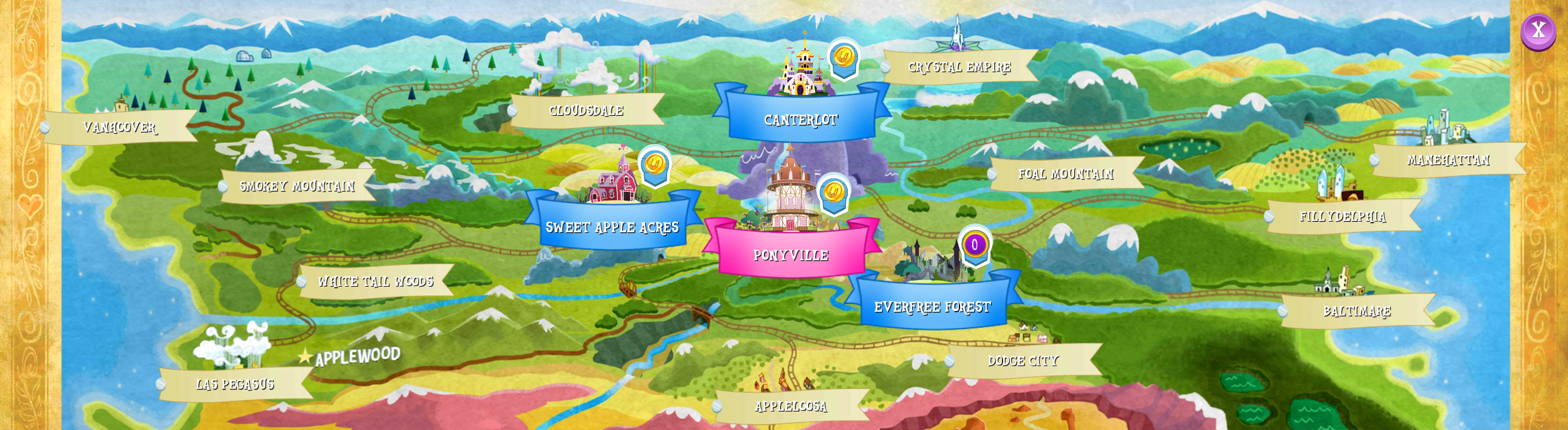 Image map of equestria mobile gameg my little pony map of equestria mobile gameg gumiabroncs Choice Image