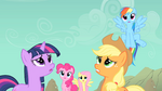 Other main ponies imagining Rarity S1E19