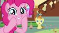 Pinkie Pie squishing her cheeks S7E19.png