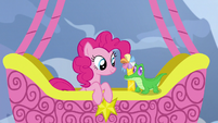 Pinkie Pie waiting for Gummy's answer S7E11