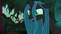 Queen Chrysalis with a twitch in her eye S8E13