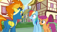 Rainbow Dash completely stunned S6E7