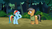 Rainbow embarrassed by Quibble's compliment S6E13