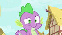 Spike with a nervous look S4E23