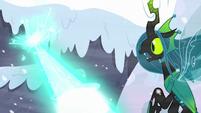 Starlight's magic strikes snow near Chrysalis S9E24