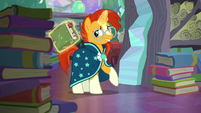 Sunburst levitates a book S6E2