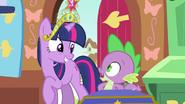 Twilight & Spike sharing smiles S3E13