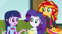 Twilight asks about the Dazzlings' whereabouts EG2