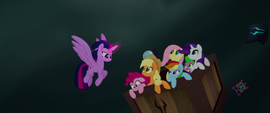 Twilight places her friends in a falling crate MLPTM