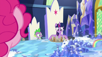 Twilight takes out a diorama of Ponhenge S7E25