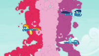 Wonderbolts shaping colored smoke S9E12