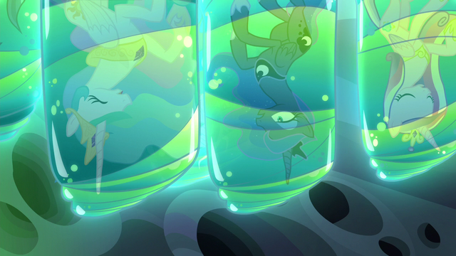File:Celestia, Luna, and Cadance trapped in cocoons S6E26.png