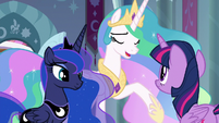 "Celestia ""unfair to thrust this upon you"" S9E2"