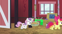 Crusaders running out of the barn S9E23