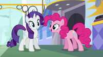 Pinkie Pie interrupting Rarity S6E12