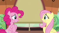 Pinkie and Fluttershy look incredibly nervous S6E18