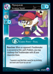 Pipsqueak, Scrappy Squirt card MLP CCG