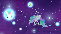 Princess Celestia in the realm of sleep S7E10